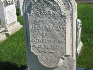 Students will see evidence of weathering by observing the tombstones.