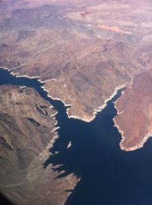 Aerial view approaching Las Vegas, Nevada